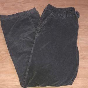 Woman's GAP gray velvet pants- size 18